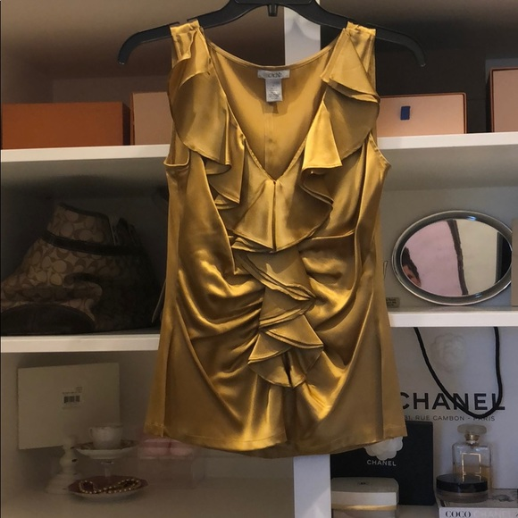 Cache Tops - Golden silk top
